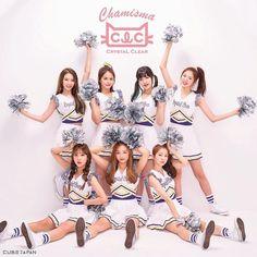 "CLC Japanese mini album ""Chamisma"" version B Kpop Girl Groups, Korean Girl Groups, Kpop Girls, Extended Play, Clc Hobgoblin, South Korea Fashion, Video Japanese, White Converse, Group Photos"