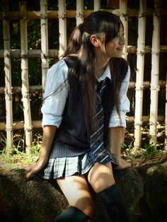 "aaprodigyy: "" shiroino: "" Mayu Iida (via ryojin_s) "" "" Japanese School Uniform Girl, School Girl Dress, School Uniform Girls, Girls Uniforms, School Uniforms, Botas Sexy, Beautiful Japanese Girl, Outdoor Fashion, Beautiful Women Pictures"