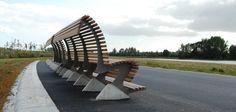 Banco de acero curva en TRONO estilo moderno - Metalco