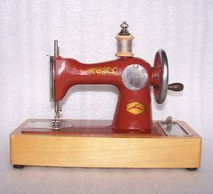 Vintage Soviet Toy Child's Sewing Machine by RarityFromAfar, $49.99
