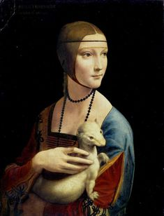 Lady with an Ermine, Leonardo da Vinci Art Print by Historia Fine Art Gallery - X-Small Famous Portraits, Most Famous Paintings, Classic Paintings, Popular Paintings, Italian Paintings, Renaissance Kunst, Renaissance Paintings, Italian Renaissance, Art History Periods