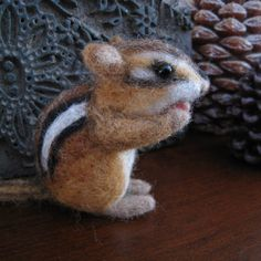 Seed the tiny chipmunk, needle felted animal. $39.00, via Etsy.