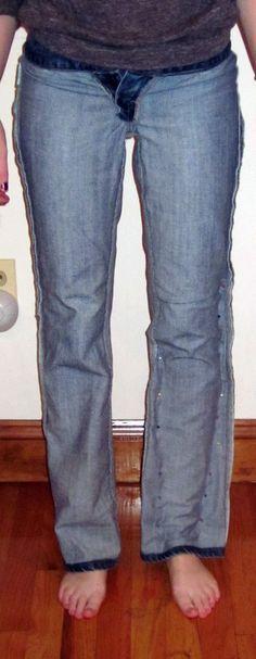 Jeansbeine ändern