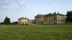 The north Palladian front of Kedleston Hall, Derbyshire.