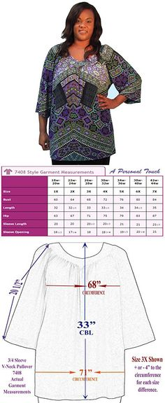 3bc7179fafadc A Personal Touch Multi Tribal Geometric Women s Plus Size V-Neck Top - 4X