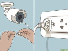 Install a Security Camera System for a House - Home Security Camera - Ideas of Home Security Camera - 3 Ways to Install a Security Camera System for a House wikiHow Wireless Security Camera System, Wireless Home Security Systems, Security Surveillance, Security Alarm, Surveillance System, House Security, Best Security Cameras, Home Camera, Spy Camera
