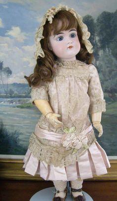 2BETHSDOLLS on Ruby Lane http://www.rubylane.com/item/593270-bk606/22-Ex78quisite-Early-Pouty-Kestner #antiquedoll #kestner