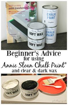 Beginner's advice for using Annie Sloan Chalk Paint and clear and dark wax. How to Chalk Paint furniture - Vanity makeover by Girl in the Garage Annie Sloan Chalk Paint And Wax, Annie Sloan Wax, Annie Sloan Painted Furniture, Chalk Paint Dresser, Gray Chalk Paint, Using Chalk Paint, Painted Bedroom Furniture, Annie Sloan Paints, Furniture Vanity