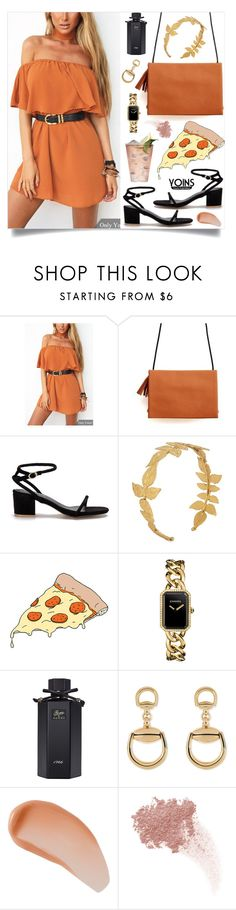 """yoins56"" by nastenkakot ❤ liked on Polyvore featuring AURA Headpieces, Tattly, Chanel, Gucci, Avène, W3LL People, yoins, yoinscollection and loveyoins"