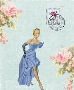 today is blue! (with pink :) Vintage Wine, Vintage Labels, Vintage Paper, Vintage Pictures, Vintage Images, Decoupage, Amadeus Mozart, Pretty Images, Vintage Greeting Cards