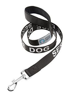 Service Dog Leash with Neoprene Handle and Reflective SERVICE DOG Lettering for Service Animal Vests, by Industrial Puppy - http://www.thepuppy.org/service-dog-leash-with-neoprene-handle-and-reflective-service-dog-lettering-for-service-animal-vests-by-industrial-puppy/