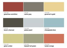 Benjamin Moore Williamsburg Paint Colors | Color Exterior | Pinterest | Benjamin  Moore, Paint Colour Charts And Exterior