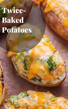 Broccoli and Cheddar Twice-Baked Potatoes Cube Steak Recipes, Cooked Chicken Recipes, Beef Recipes For Dinner, Vegetarian Recipes Easy, Easy Recipes, Healthy Recipes, Easy Chicken Fettuccine Alfredo, Fetuchini Alfredo, Homemade Chicken Alfredo