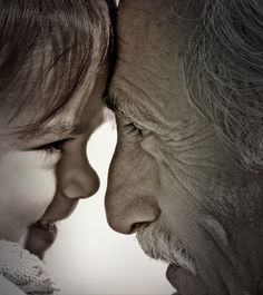 grandfather with granddaughter ~ photo by Carlos G.
