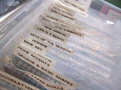 Organizing Cricut Carts