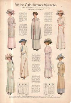 Edwardian Era Fashion, Edwardian Clothing, Edwardian Dress, 1900s Fashion, Antique Clothing, Fashion Women, Vintage Outfits, Vintage Dresses, Vintage Fashion