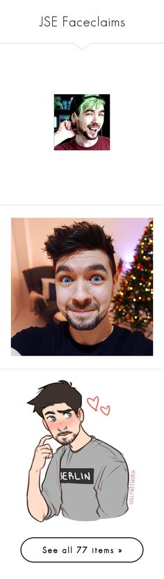 """JSE Faceclaims"" by princey-princey ❤ liked on Polyvore featuring youtubers, septiplier, youtube, people, markiplier, jacksepticeye, decor and jack"