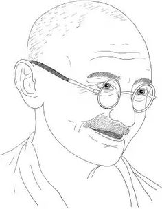 gandhiji standing coloring pages - photo#38