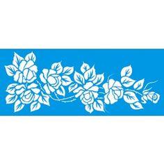 Stencil Litoarte Flores STG 048 - 17x42 cm - Cod.:2136-048