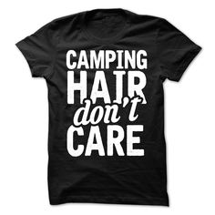 Camping Hair T-Shirts, Hoodies. BUY IT NOW ==► https://www.sunfrog.com/Outdoor/Camping-Hair.html?41382