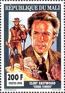 Detective Fiction on Stamps: Mali: Clint Eastwood (Dirty Harry)