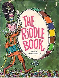 The Riddle Book 1967 Oscar Weigle John Huehnergarth Hardcover Dustjacket Vintage   eBay