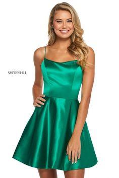 Sherri Hill Gowns at Ashley Rene's Sherri Hill 53267 Ashley Rene's Prom and Pageant Sherri Hill Short Dresses, Green Homecoming Dresses, Green Bridesmaid Dresses, Dresses Short, Hoco Dresses, Quinceanera Dresses, Club Dresses, Short Green Dress, Prom Dress Stores