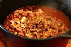Food for Hunters: Smoky BBQ Beans with Venison Deer Recipes, Wild Game Recipes, Fish Recipes, Hunting Stuff, Bow Hunting, Bbq Beans, Deer Meat, Liquid Smoke, Venison Recipes