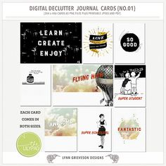 Digital Declutter Cards  by Lynn Grieveson (The Lily Pad).