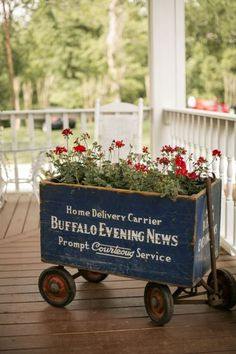 .. that is the sweetest wagon for the porch