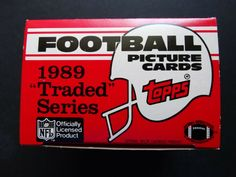 Empty 1989 Topps Traded Football Empty Box Picture Cards, Football Cards, Soccer Cards, Trading Cards