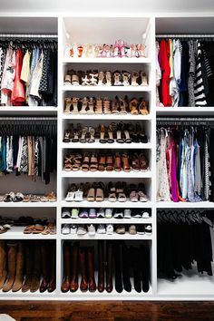 brighton keller new home closet reveal shoe organization || there's nothing I love more than an organized closet