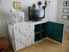 IKEA HACK!  Love the Idea of adding Doors to the expedit cube units!