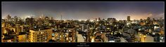 Riverside - Buenos Aires March 2012 This 4 image panoramic was taken on the storey of a friends apartment in Palermo looking towards the river with. Seattle Skyline, New York Skyline, Friends Apartment, Palermo, San Francisco Skyline, River, Photography, Image, Buenos Aires