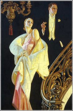 Leyendecker 1932 by Art & Vintage. Art Deco prints/ art work for the house Posters Vintage, Retro Poster, Art Deco Posters, Vintage Art, Vintage Paintings, Art Deco Paintings, Watercolor Paintings, Art And Illustration, Illustrations Vintage