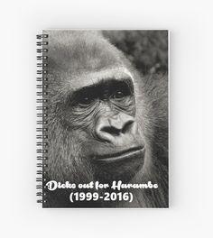 harambe harambe spiral notebooks pinterest