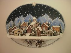 paesaggio Christmas Ideas, Christmas Crafts, Christmas Decorations, Boulle, Winter Scenes, Felt Crafts, Snow Globes, Crafts To Make, Wood
