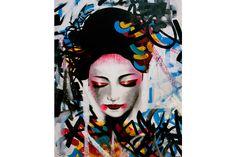 Quadri : GEISHA Graffiti 140x180 0/E 470€