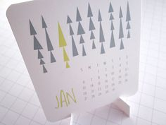 Modern Shapes - Mini Calendar - 2013. $12.00, via Etsy.