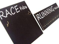 Running medals holder and running race bibs holder: running