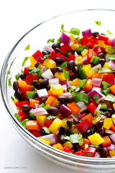 Rainbow Salsa  -- easy to make, and so fresh and tasty! | gimmesomeoven.com