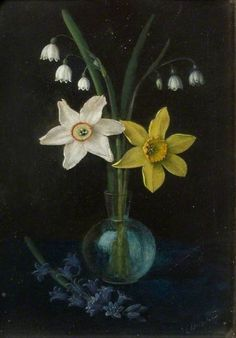Alfred Balding - Four Natives of Ancient Britain, Daffodils, Narcissi, Lily of the Valley and Bluebells - 1913