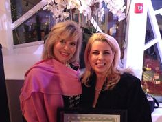 With lovelly Rita Cosby - TV news anchor, at event we sponsored!