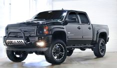 Lifted Chevy Silverado - Black Widow Edition from Southern Comfort Lifted Chevy Trucks, Gm Trucks, Chevrolet Trucks, Cool Trucks, Pickup Trucks, Truck Mods, Tow Truck, Diesel Trucks, 2014 Chevy