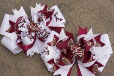 Texas a&m hair clips www.littlesweetpeacloset.com