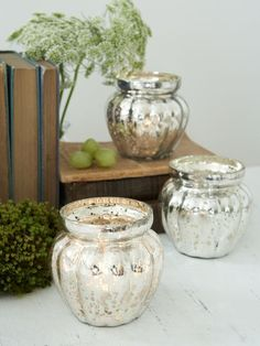 One of our favourites! These round, pumpkin-shaped tealight holders glow warm & inviting when the tealight is lit within.