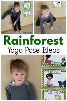 A great gross motor activity for kids. A fun rainforest themed activity. A great option for brain breaks or motor time. Use this activity all year long! Jungle Theme Activities, Animal Activities, Preschool Themes, Preschool Lessons, Lessons For Kids, Preschool Activities, Rainforest Preschool, Rainforest Crafts, Rainforest Theme