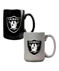 Take a look at this Oakland Raiders Coffee Mug Set by Great American Products on #zulily today!