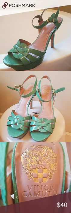 Vince Camuto shoes Heels Tiffany blue color by Vince Camuto please note wear in photos Vince Camuto Shoes Heels