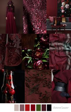 Pattern Curator delivers color, print and pattern trends and inspiration. Colour Pallette, Colour Schemes, Color Trends, Color Combinations, Black Cherry Color, Burgandy Color, Burgundy, Magenta, Pattern Curator